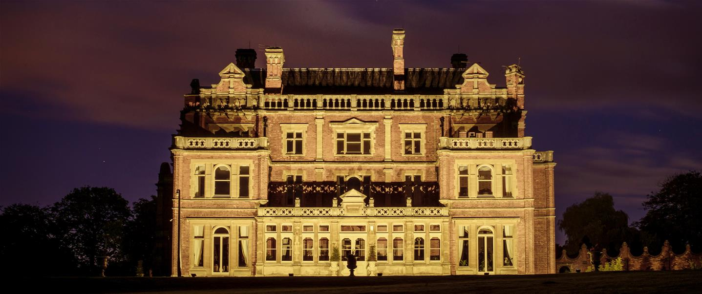RHGD – Rossington Hall at night_destination hero image